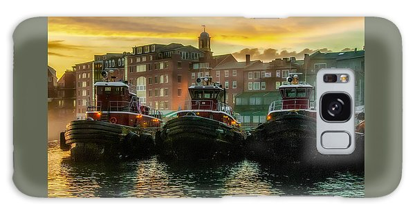Tugboats In Portsmouth Harbor At Dawn Galaxy Case