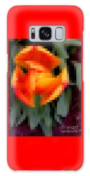 Tulip 1 Honoring Princess Diana Galaxy Case by Richard W Linford