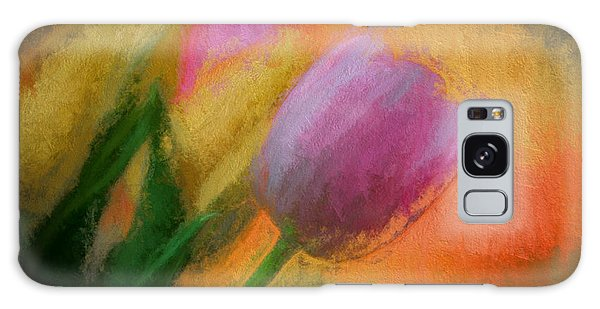 Tulip Abstraction Galaxy Case