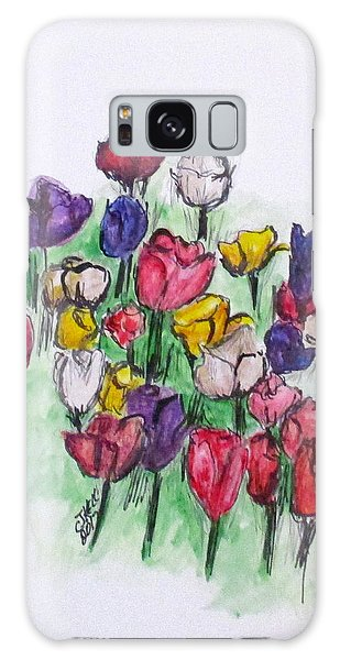 Tulip Bed Galaxy Case by Clyde J Kell