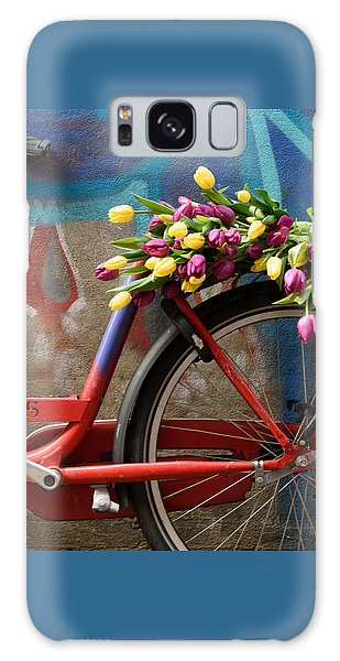 Tulip Bike Galaxy Case by Phyllis Peterson