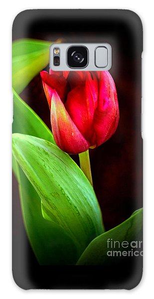 Tulip Caught In The Light Galaxy Case