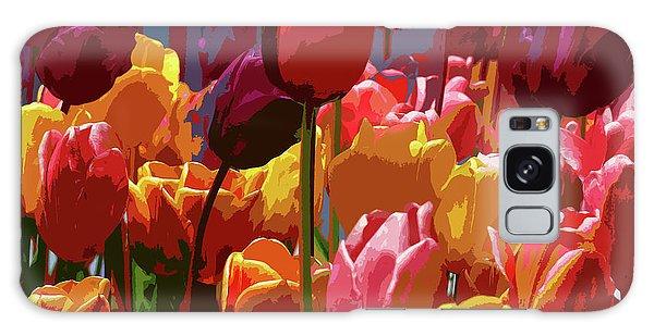 Tulip Confusion Galaxy Case by Sharon Talson