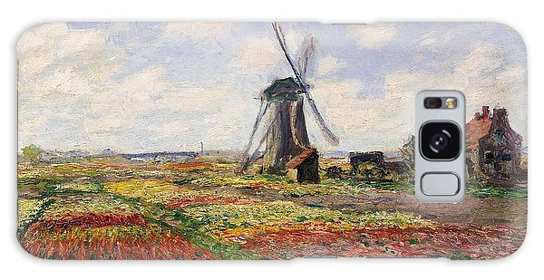 Impressionism Galaxy Case - Tulip Fields With The Rijnsburg Windmill by Claude Monet
