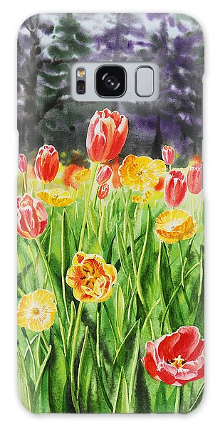 Outdoor Dining Galaxy Case - Tulip Garden In San Francisco by Irina Sztukowski