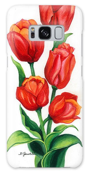 Tulip Time Galaxy Case by Barbara Jewell
