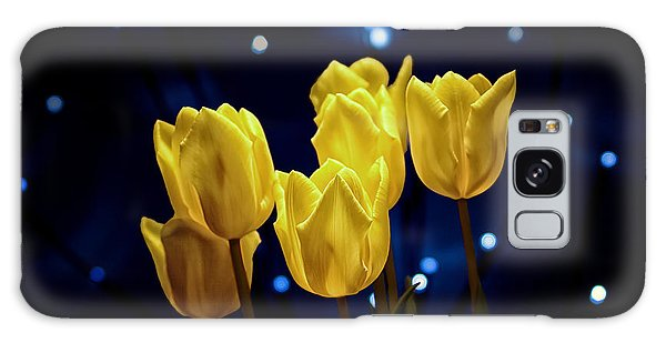 Blossoms Galaxy Case - Tulip Twinkle by Tom Mc Nemar