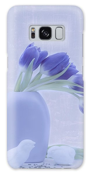 Tulips And Birdies  Galaxy Case
