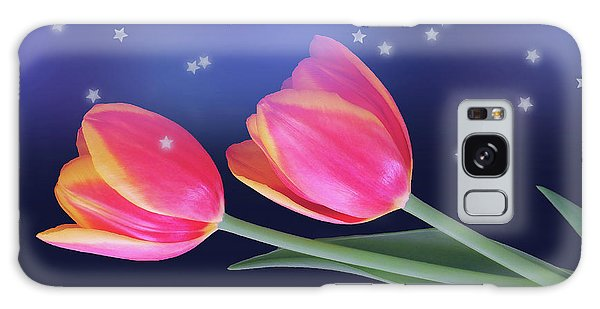Tulips And Stars Galaxy Case