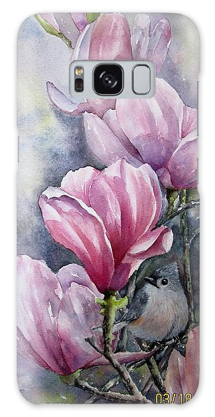 Tulips And Titmouse Galaxy Case