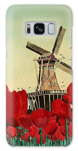 Tulips And Windmill Galaxy Case by Diane Merkle