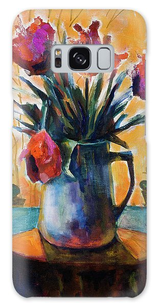 Tulips At Sunset Galaxy Case