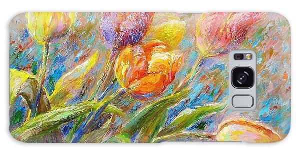 Tulips Galaxy Case by Bonnie Goedecke