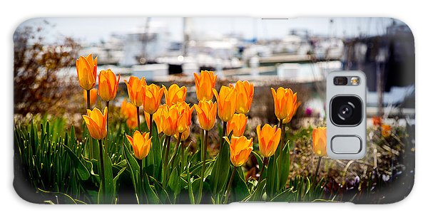 Tulips By The Harbor Galaxy Case