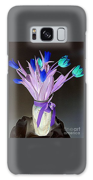 Tulips Cancer 1 Galaxy Case by Richard W Linford