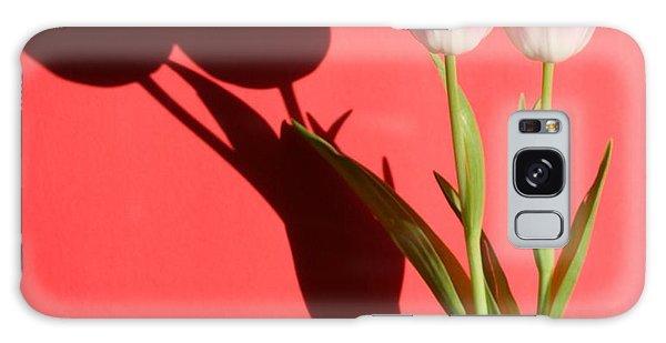 Tulips Casting Shadows Galaxy Case