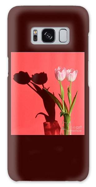 Tulips Casting Shadows Galaxy Case