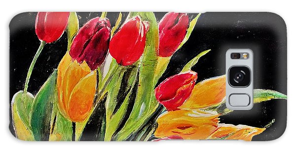 Tulips Colors Galaxy Case by Khalid Saeed