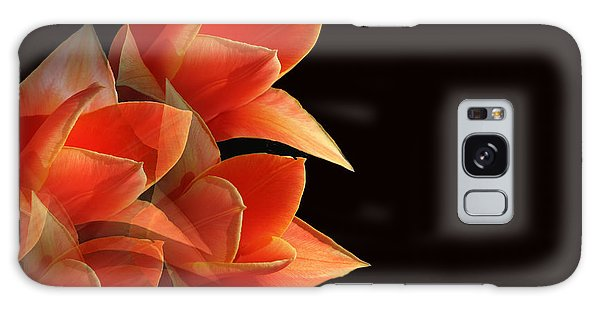 Tulips Dramatic Orange Montage Galaxy Case