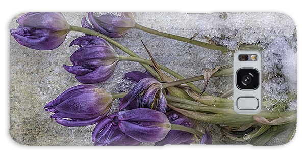 Tulips Frozen Galaxy Case by Terry Rowe