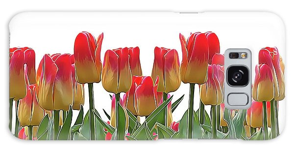 Galaxy Case featuring the painting Tulips by Harry Warrick
