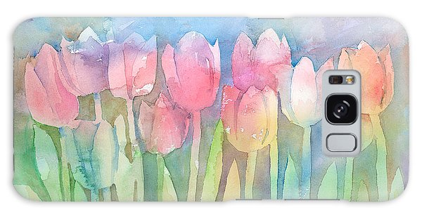 Tulips In A Row Galaxy Case