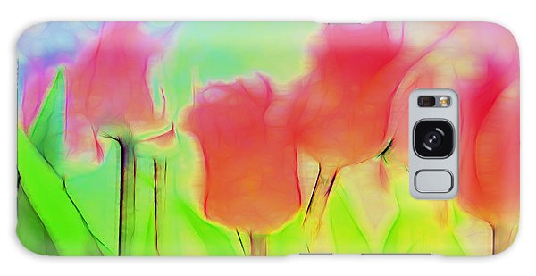 Tulips In Abstract 2 Galaxy Case by Cathy Anderson