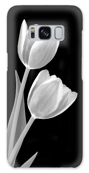 Tulips In Black And White Galaxy Case