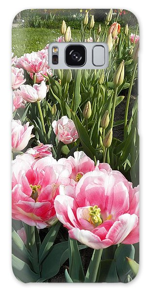 Tulips In Pink Galaxy Case