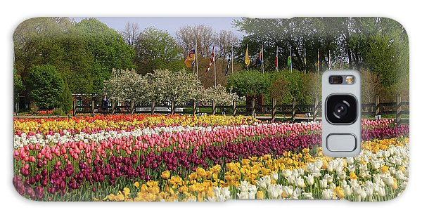 Tulips In Rows Galaxy Case