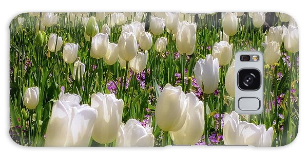 Tulips In White Galaxy Case