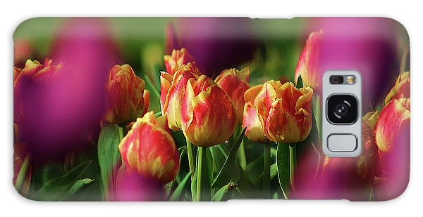 Tulips Galaxy Case by Martina Fagan