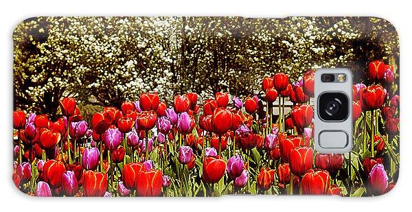 Tulips Galaxy Case by Milena Ilieva
