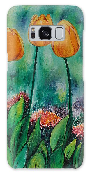 The Three Tulips Galaxy Case by Miriam Shaw