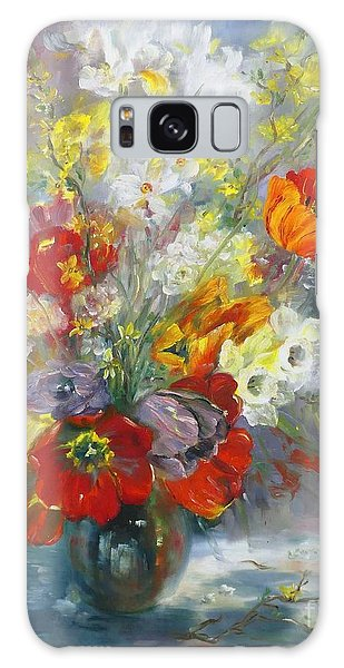 Tulips, Narcissus And Forsythia Galaxy Case