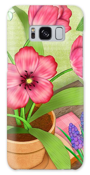 Tulips On A Spring Day Galaxy Case
