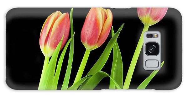 Tulips On Black Galaxy Case