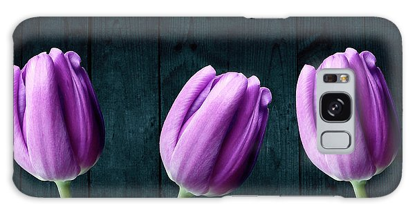Tulips On Wood Galaxy Case