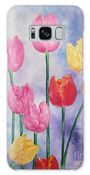 Ten  Simple  Tulips  Pink Red Yellow                                Flying Lamb Productions   Galaxy Case