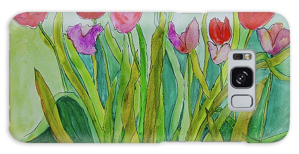 Tulips Galaxy Case by Teresa Tilley