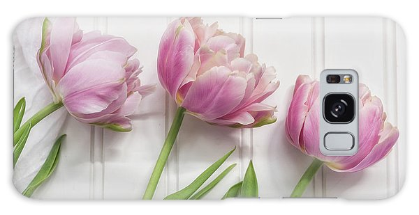 Galaxy Case featuring the photograph Tulips Three by Kim Hojnacki