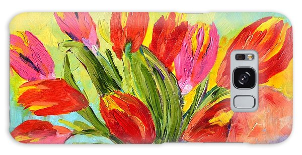 Tulips Tied Up Galaxy Case by Lynda Cookson