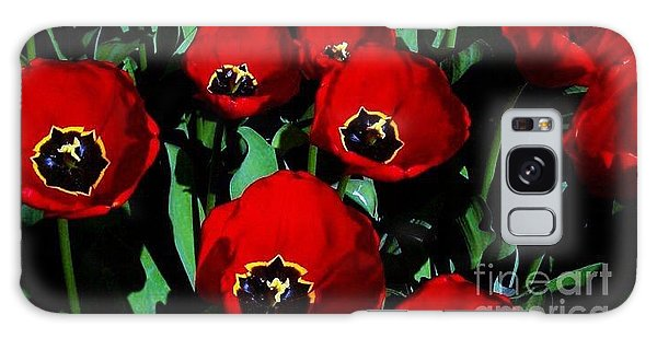 Tulips Galaxy Case by Vanessa Palomino