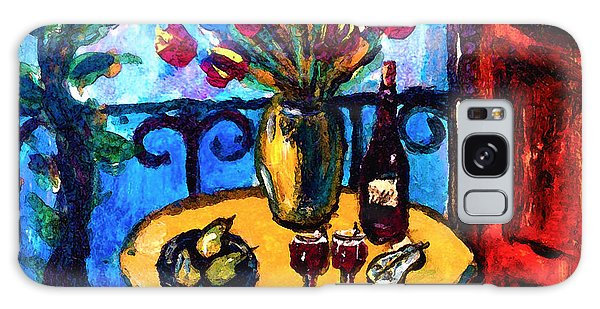 Tulips Wine And Pears Galaxy Case by Karon Melillo DeVega