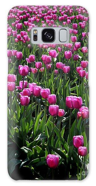 Purple Tulips Galaxy Case