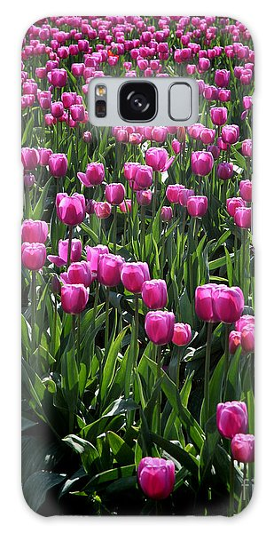 Purple Tulips Galaxy Case