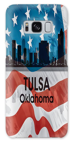 Tulsa Ok Galaxy Case - Tulsa Ok American Flag Vertical by Angelina Tamez