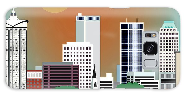 Tulsa Ok Galaxy Case - Tulsa Oklahoma Horizontal Skyline by Karen Young