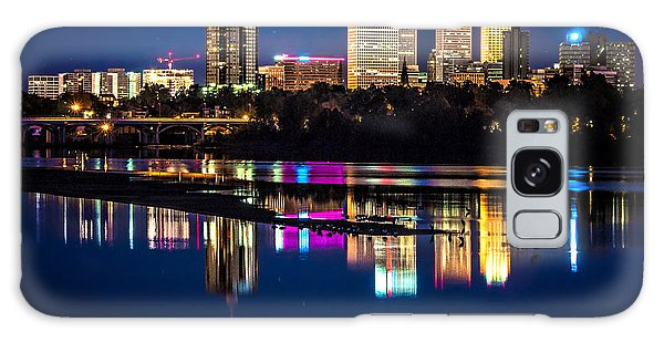 Tulsa Skyline At Twilight Galaxy Case by Tamyra Ayles