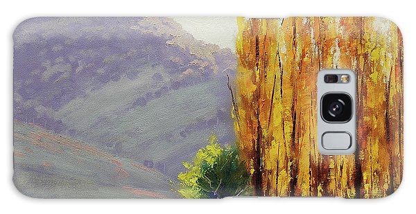 Maple Leaf Art Galaxy Case - Tumut Poplars by Graham Gercken